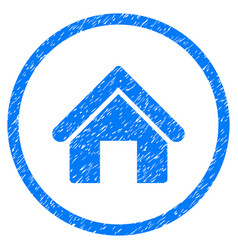 House rounded grainy icon vector