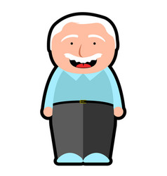 isolated grandfather icon vector image