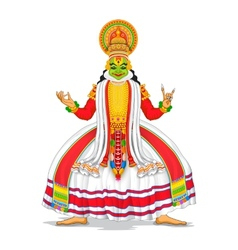 Kathakali dancer vector