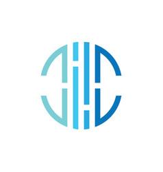 letter cc simple geometric circle logo vector image