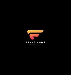 Letter logo f color gradient full color vector