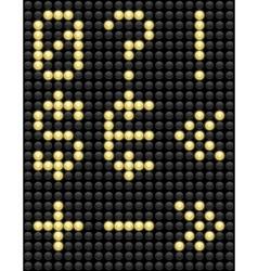 Light Bulb ABC 5 vector image