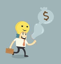 make ideas to money vector image