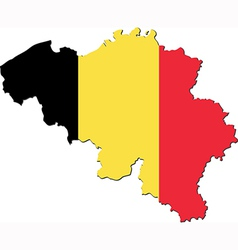 map belgium with national flag vector image