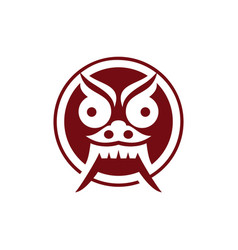 Mask devil from culture bali indonesia vector