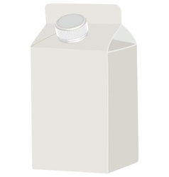 Milk blank white packing vector image