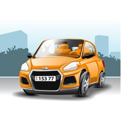 orange car in cartoon style vector image