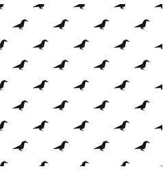 Origami raven pattern seamless vector