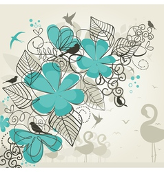 Paradise of birds vector