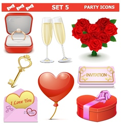 Party Icons Set 5 vector