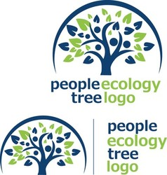 people ecology tree logo 8 vector image