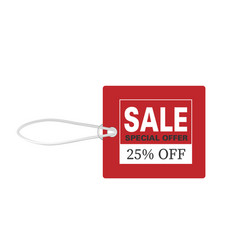 Price tag sale special offer 25 off image vector