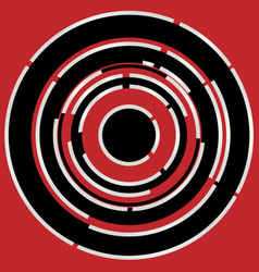 Red black circular abstract background vector