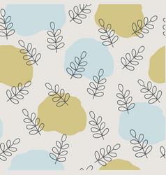 scandinavian nature pattern design vector image
