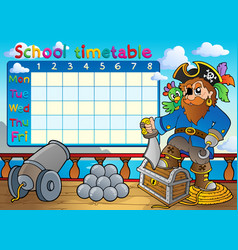 School timetable thematic image 3 vector
