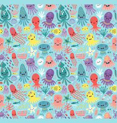 sea cute pattern vector image