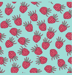 seamless pattern with berries in retro colors vector image