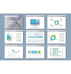 Set of templates for presentation slides vector image