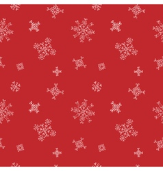 Snowflakes seamless pattern Red snow christmas vector image