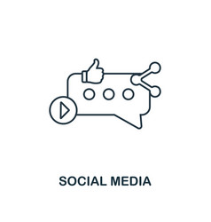 social media icon thin line style symbol from vector image
