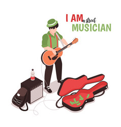 street music performer composition vector image