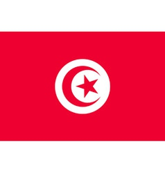 tunisian flag vector image