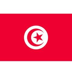 tunisian flag vector image vector image