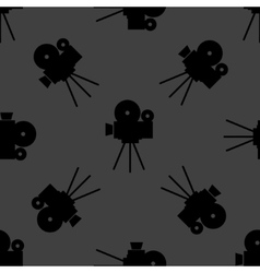 Videocamera web icon flat design Seamless gray vector image