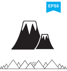 Volcano icon isolated vector