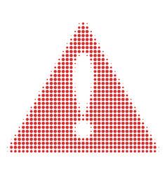 warning halftone icon vector image