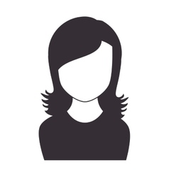 Woman girl female face vector