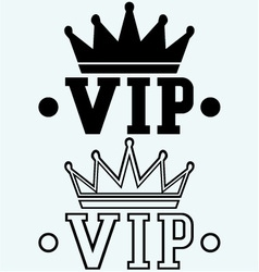 Crown on the acronym VIP vector image vector image