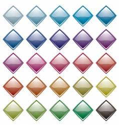 rainbow diamond variation vector image vector image