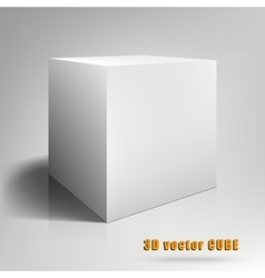 Cube 3D template for your vector image