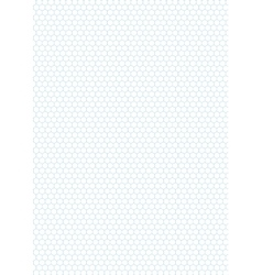 Cyan color hexagon grid on white a4 size vector image