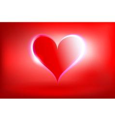 glowing heart vector image vector image