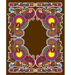 hand draw ornate floral vintage ornate frame vector image