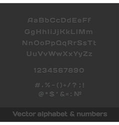 Set of letters numbers and symbols vector image vector image