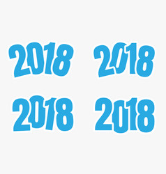 2018 sign of new year vector