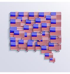 flag bubble speech Eps10 vector image vector image