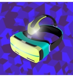 Points on the virtual reality 3D cubes background vector image