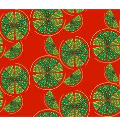 Round lemon pattern vector image vector image
