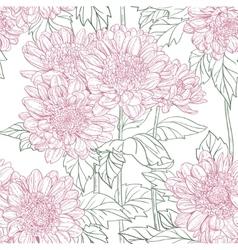 Seamless pattern chrysanthemum vector image vector image
