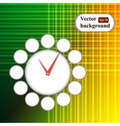 time icon background Geometric retro background vector image