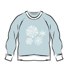 Abstract sweatshirt sketch for your design vector image