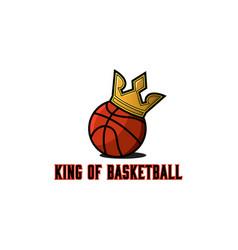 basketball ball logo basket teams tournament vector image vector image