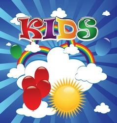 kids 4 vector image