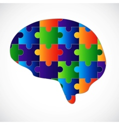 Mind puzzle vector image