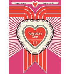 retro valentine design vector image vector image