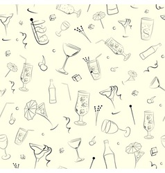 Seamless background on alcohol vector image